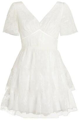 Self-Portrait Bridal Lace Mini Dress