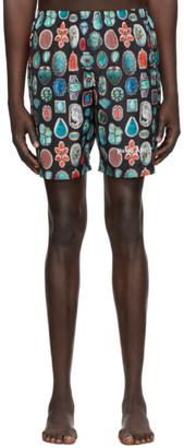 Palm Angels Black Jewels Swim Shorts