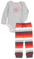 Infant Burt's Bees Baby 'Beeflake' Organic Cotton Bodysuit & Pants Set