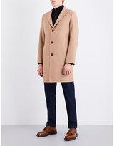 Salvatore Ferragamo Single-breasted Camel-hair Coat