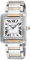 One Kings Lane Vintage Cartier Tank Francaise Two Tone Watch