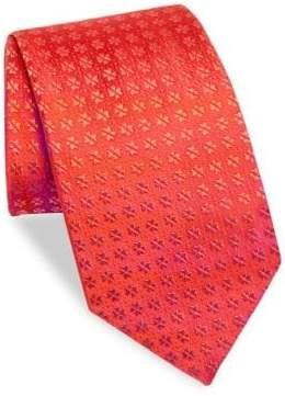 Charvet Tree-Print Silk Tie