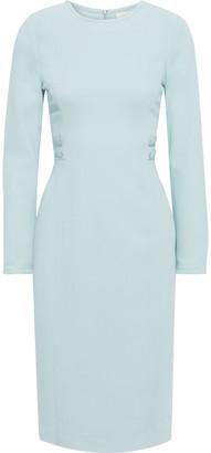Goat Jennifer Button-embellished Wool-crepe Dress
