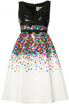 Carolina Herrera sequinned flared dress - women - Silk/Sequin/plastic - 2