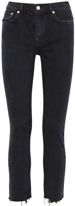 AGOLDE Toni Black Slim-leg Jeans