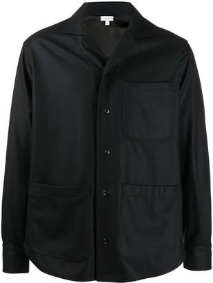 Caruso Patch-Pocket Felt Shirt Jacket