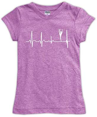 Urban Smalls Girls' Tee Shirts Mauve - Mauve Ballet Heart Beat Fitted Tee - Toddler & Girls