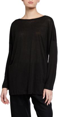eskandar Linen Jersey Boat-Neck Sweater