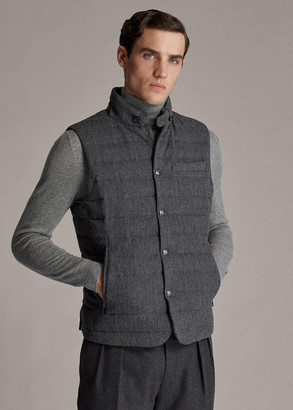 Ralph Lauren Tweed Down Vest