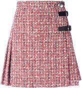Alexander McQueen boucle kilt-style skirt