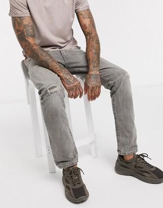 Polo Ralph Lauren Sullivan stretch slim fit jeans in gray vintage repair wash