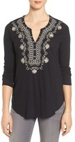 Lucky Brand Women's Embellished Bib Top