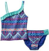 Girls 7-16 SO® Tribal Print Stripe 2-pc. Asymmetrical Tankini Swimsuit Set