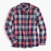 J.Crew Popover shirt in smoky coral plaid