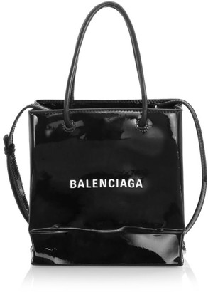 Balenciaga Extra Extra-Small Shopping Patent Leather Tote