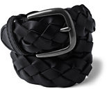 Classic Boys Leather Braided Belt-Black