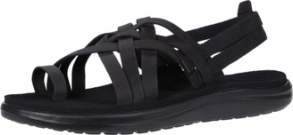 Teva Womens Women's W VOYA Strappy Leather Flip-Flop