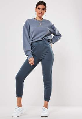 Missguided Petite Blue Basic Joggers