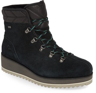 UGG Birch Faux Fur Lined Waterproof Lace-Up Winter Bootie