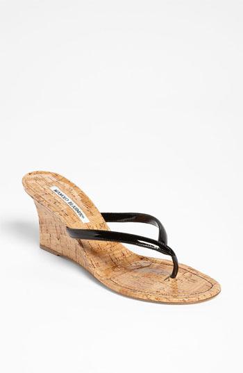Manolo Blahnik 'Patwedge' Sandal