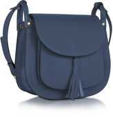 Le Parmentier Buttercup Navy Leather Crossbody Bag