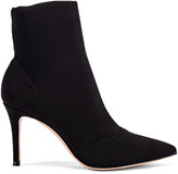 Gianvito Rossi Stretch Ankle Booties in Black | FWRD