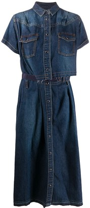 Sacai loose-fit denim dress
