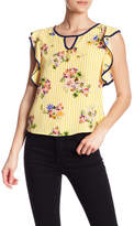 Pink Owl Printed Woven Top