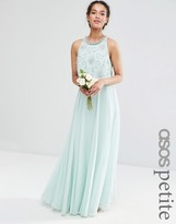 Asos WEDDING Bridesmaids Embellished Crop Top Maxi