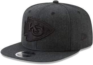 New Era Men's Heathered Black Kansas City Chiefs Total Tone Snap 9FIFTY Adjustable Hat