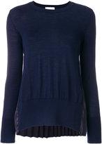 P.A.R.O.S.H. pleated trim sweatshirt