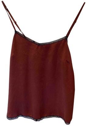Zadig & Voltaire Burgundy Silk Top for Women