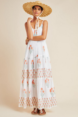 Roller Rabbit Dakota Cover-Up Maxi Dress By in White Size M