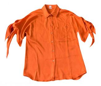 Hermes Orange Silk Tops