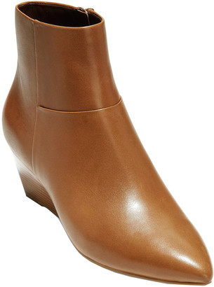 Cole Haan Eneida Leather Wedge Bootie