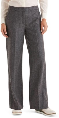Boden Wide Leg Tweed Pants