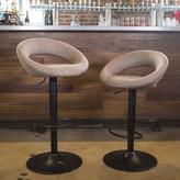 Basurto Adjustable Height Swivel Bar Stool Ebern Designs Color: Brown
