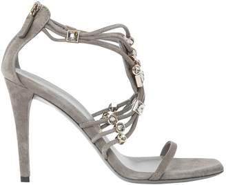 Gucci \N Grey Suede Sandals