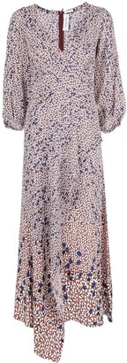 Yigal Azrouel Falling Leaf printed maxi dress