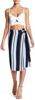 J.o.a. Striped Wrap Skirt