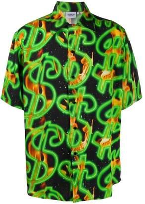 SSS World Corp dollar sign hawaiian shirt