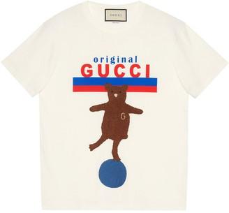 Gucci Original bear-patch oversize T-shirt