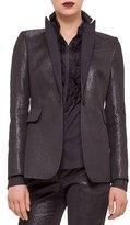 Akris Punto Fitted One-Button Tuxedo Jacket, Black