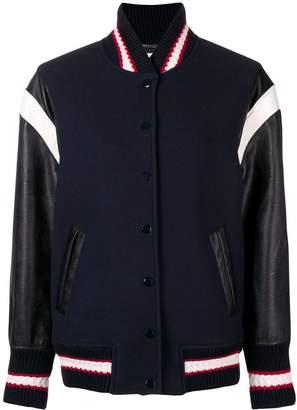 Stella McCartney slogan appliqué bomber jacket