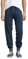 True Religion Distressed Drawstring Sweatpants, Navy