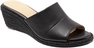 Trotters Slip-On Leather Espadrille Slides - Colony