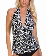 Magicsuit Black & White Zooloo April Tankini Top