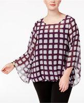 Alfani Plus Size Printed Blouson Top, Created for Macy's