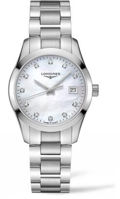 Longines Conquest Classic Diamond Bracelet Watch, 34mm