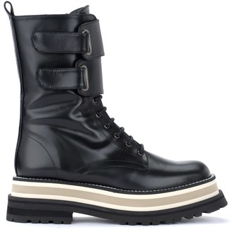 Paloma Barceló Amphibious Boot In Lux Nappa Leather In Black